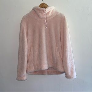 NWT Sabrina Lauren Sherpa Teddy Pink Sweater Large